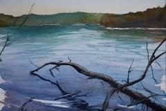 Heure Bleue-Chemilly |  aquarelle sur papier, 20x30 cm | 2020